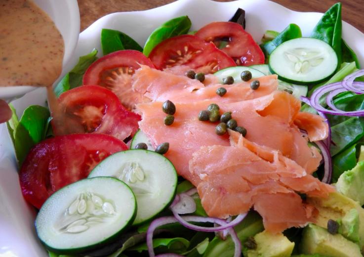 Light and Healthy Salmon Salad-TaylorWalkrFit.com