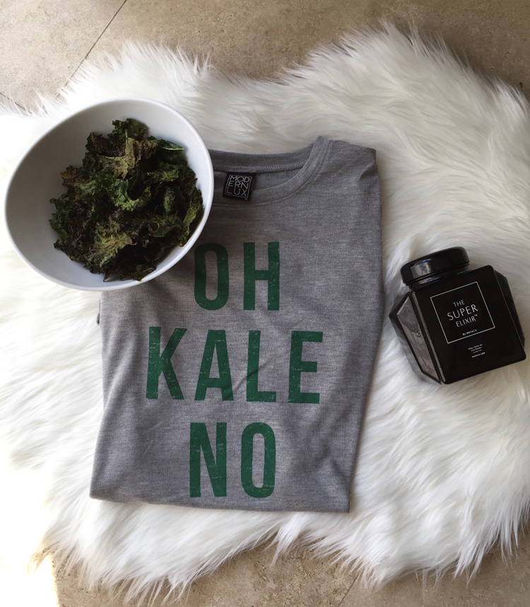 Oh, Kale No! Salty, Spicey Kale Chips.
