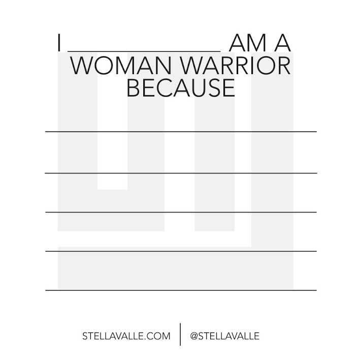 Women Warriors Pledge Cards