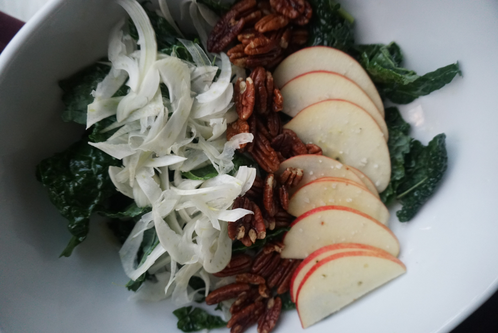 Maple Kale Pecan Salad